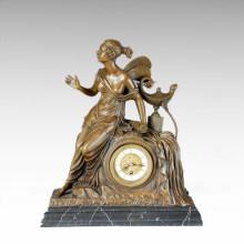 Clock Statue Butterfly Fairy Bell Bronze Sculpture Tpc-027
