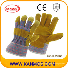Patched Palm Industrial Safety Cowhide Split Leather Work Gloves (11001-1)