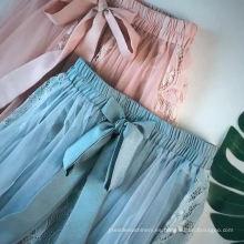 Falda con bordado de burbujas de falda dulce y temperamento para mujer