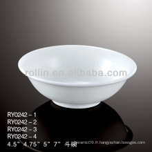 Bol de riz de 4,5 pouces, porcelaine et céramique utilisé dans l'hôtel et le restaurant
