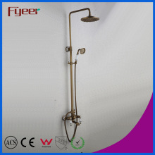 Fyeer Exposed Shower Banheiro Antique Rainfall Bath Shower Mixer