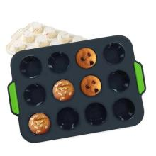 Plateau à muffins en silicone à 12 cavités