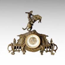 Clock Statue Knight Bell Bronze Sculpture Tpc-026