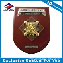 Custom 3D Metal + MDF Award Wooden Plaque Trophy