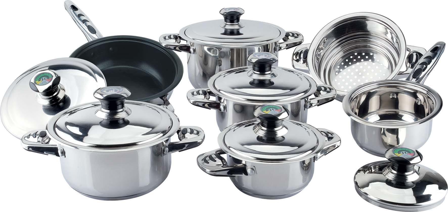 Metal travel kitchenware sets