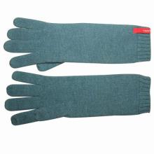 Moda feminina longa lã de acrílico de malha de inverno luvas quentes (yky5434)