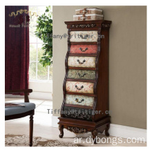 America country style oak wooden living room storage cabinets