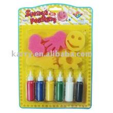 Set de peinture pour timbres éponge2 (produit bricolage, bricolage)