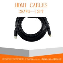 Câble HDMI mâle-mâle plaqué or