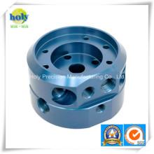 Изготовленные на заказ алюминиевые части механической обработке с Анодируют синий