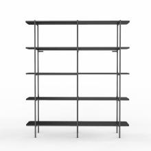 Книжный шкаф двойной шириной 5 полок