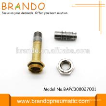 8mm Neumática Normalmente cerrado Solenoide Armadura Solenoide Armadura Tubo Electroválvula Armadura Montaje AC DC