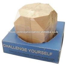 Puzzle de madera cuadrado, rompecabezas de madera iq, rompecabezas de madera imagin