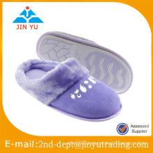 Suede slipper new design close toe with diamond for house slipper