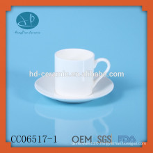 drinking tea cup and saucer, solid white ceramic tea cup and saucer , coffee & tea cup with printing