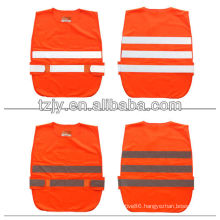 red high visibility Low-elastic yarn reflective security vest for children