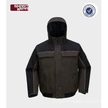 mens taslon pilot jacket winter bomber jacket safety workwear jacket
