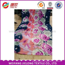 cotton knitting fabric 3D printed for bed sheets bedding sets