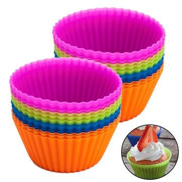 Silikon Backgeschirr Set 12er Pack Silikon Muffin Tasse