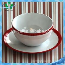 Decalque elegante Soup Bowl, cerâmica Bowl Atacado