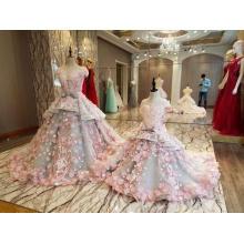 LS88349 vestidos con piedras y cuentas simple fiesta flor vestidos de niñas