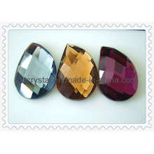 Facted цветного стекла бисера плоской задней панелью (DZ-новый-012)