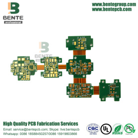 Alta precisão Rigid-flex 4Layers PCB ENIG