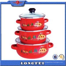 O melhor potenciômetro de sopa 3PCS da cor vermelha do decalque feito sob encomenda