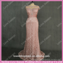 RP0097 Coral color customize made beaded indian style evening dresses keyhole real evening drees cap sleeve long evening dress