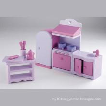 Pretend Play Toy Wooden Mini Furniture Kitchen Toy Set YT1123