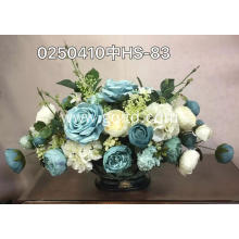 Lint material home decoration artificial flower