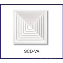 difusor do ar alumínio roda teto para HVAC