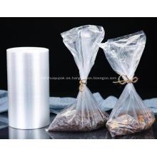 Bolsa de rollo de plástico transparente para envasado de alimentos