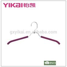 Simple EVA foam coated padded metal shirt hangers with belt rack