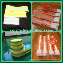 faixa elástica reflexiva amarela fluorescente do braço para esportes