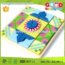 Personalize 33pcs colorido hardwood Kids Block Puzzle