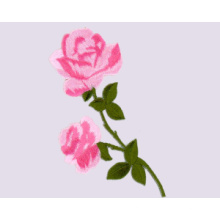 Embroidered Patch- Rose