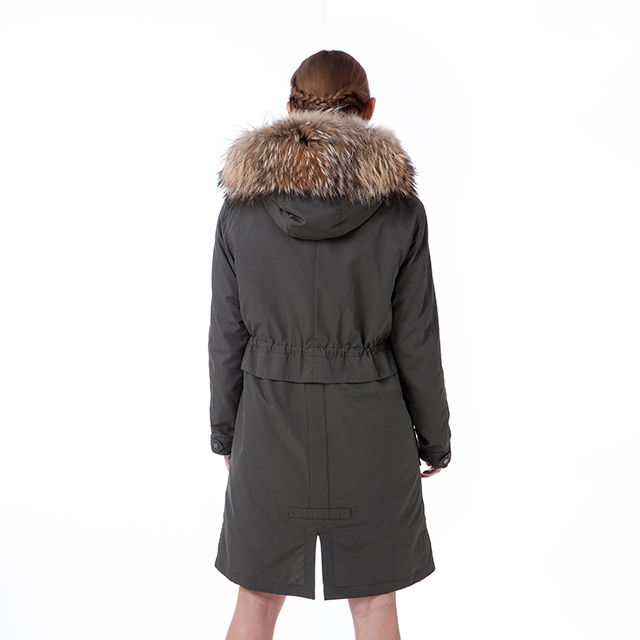 Army green color winter coat