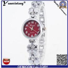 YXL-806 Fashion Flower Shape Lady Watch Bracelet mince robe montre-bracelet