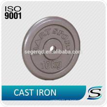 placas de peso sólido de hierro fundido de 10 kg