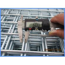 6 mm de diámetro reforzar la construcción de galvanización después de soldar la hoja de malla de alambre