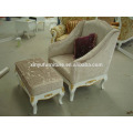 Carved wood armchair with ottoman XYD137