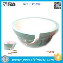 Pastel Mint Bol en céramique bol porte-fil de laine