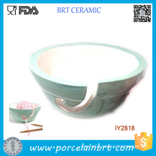 Pastel Mint Ceramic Bowl Woolen Yarn Holder Bowl
