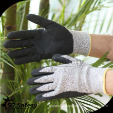 SRSAFETY CE EN388 approved nitrile coated cut resistant glove