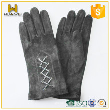 Klassische Gürtel Womens 100% echtes Leder Damen Ziege Wildleder Handschuhe