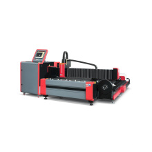 Cortador a laser de fibra de placa e tubo aberto
