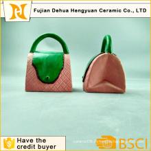 Мода Дизайн сумки Форма монет Банка для домашнего украшения