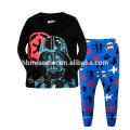 Pyjamas de pyjamas de deux pièces de style imprimé de bande dessinée mignonne de mode supérieure