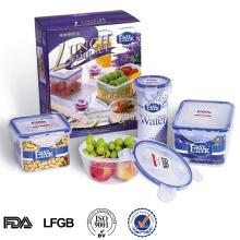 Plastic food storage container set